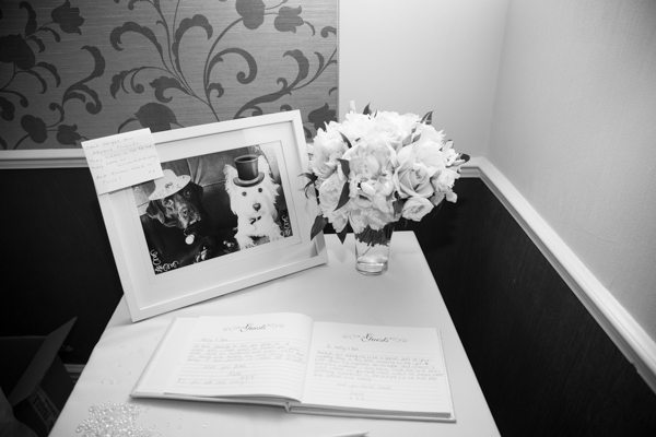 Wedding guest book and gifts at Holiday Inn Barnsley Wedding