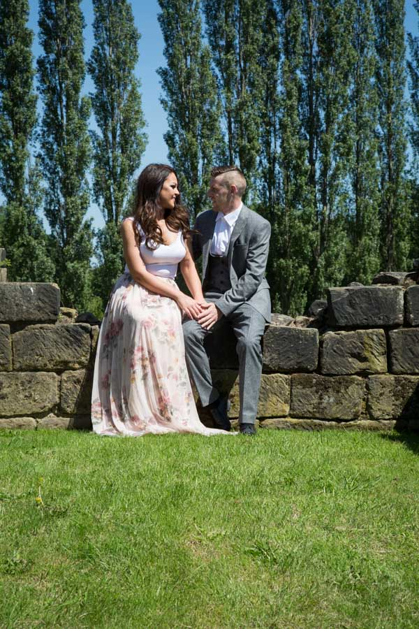 Pre-wedding session at Monk Bretton Priory Lundwood