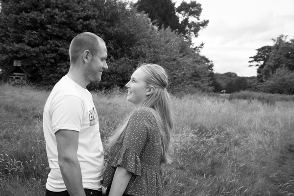 Engaged couple at their pre-wedding session at Bagden Hall Hotel huddersfield