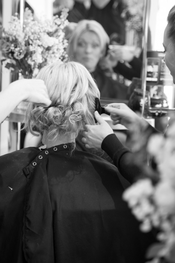 Bridal party having hair and makeup at the White Rooms Salon