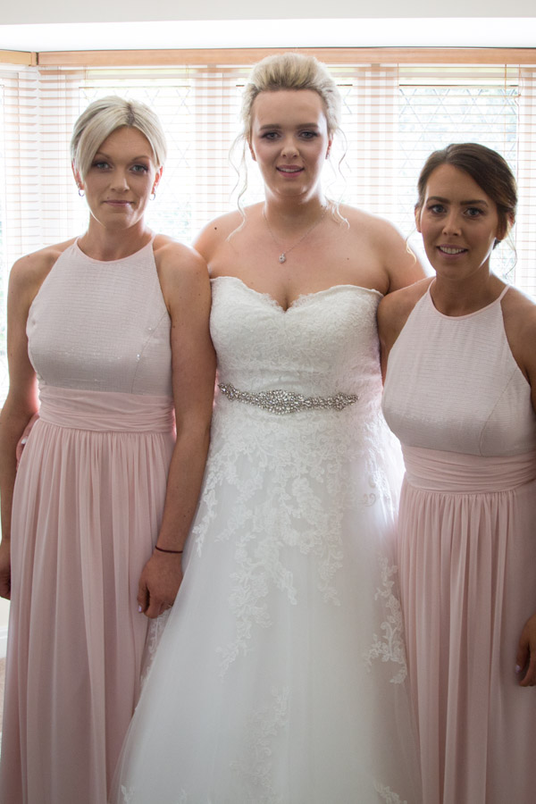 Bride and Bridesmaids before leaving for the wedding ceremony