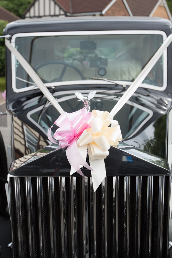 Double R vintage cars with wedding bow