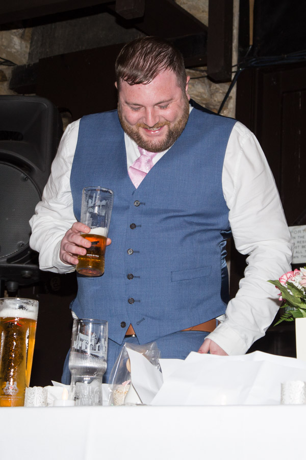 Best man during the wedding speeches at Rockingham Arms Wentworth