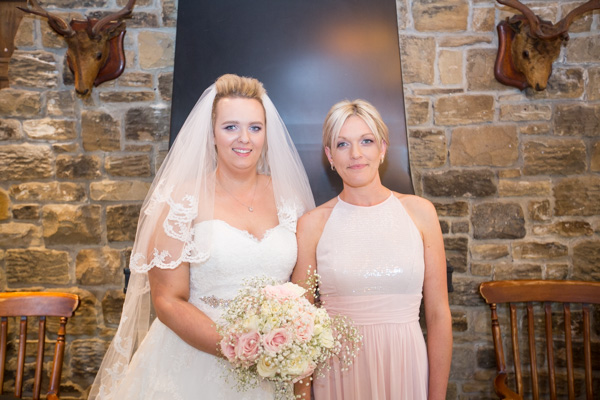 Bride and maid of honor at Rockingham Arms Wentworth
