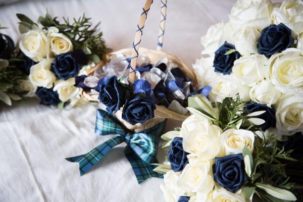 Flower girls basket at Bluebell Banqueting Suite Barnsley Wedding