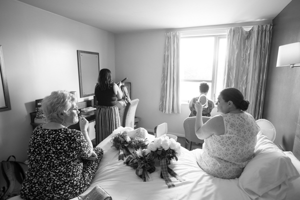 Ladies getting ready at Bluebell Banqueting Suite Barnsley Wedding