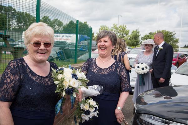 Bridesmaids laughing at Bluebell Banqueting Suite Barnsley Wedding