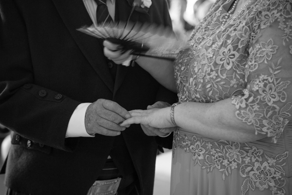 The exchange of the rings at Bluebell Banqueting Suite Barnsley Wedding