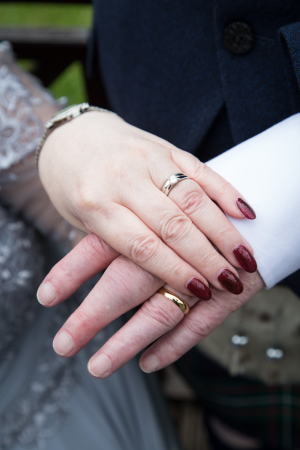 Bride and groom wedding rings at Bluebell Banqueting Suite Barnsley Wedding