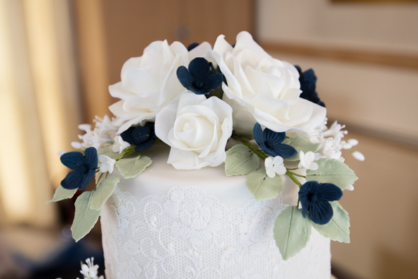 THe wedding cake topper at Bluebell Banqueting Suite Barnsley Wedding