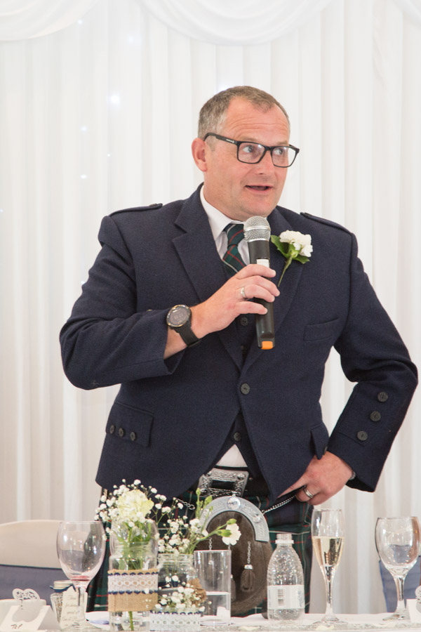 Best man during wedding speeches at Bluebell Banqueting Suite Barnsley Wedding