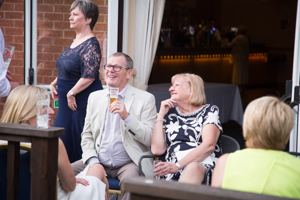Guests siting outside at Bluebell Banqueting Suite Barnsley Wedding