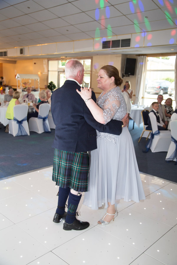 Bride and Groom first dance at Bluebell Banqueting Suite Barnsley Wedding