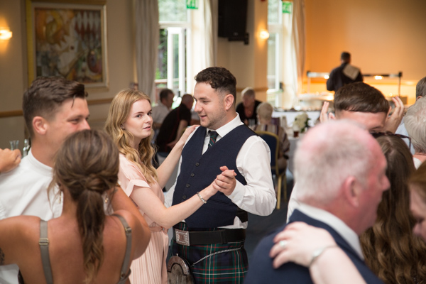 Guests dance at Bluebell Banqueting Suite Barnsley Wedding