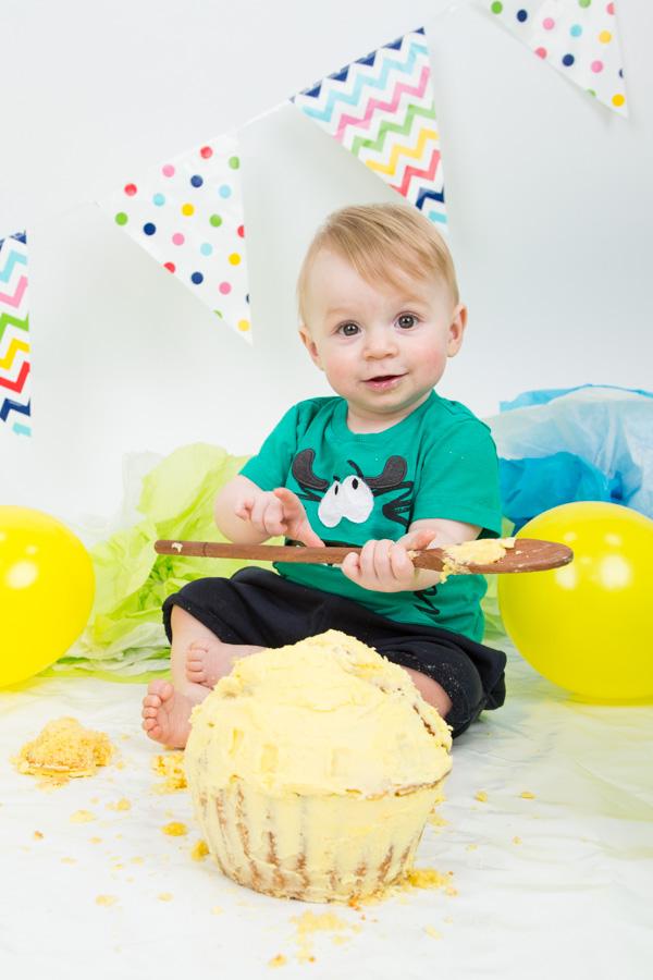 Cake Smash at Charlotte Elizabeth Photography Barnsley South Yorkshire
