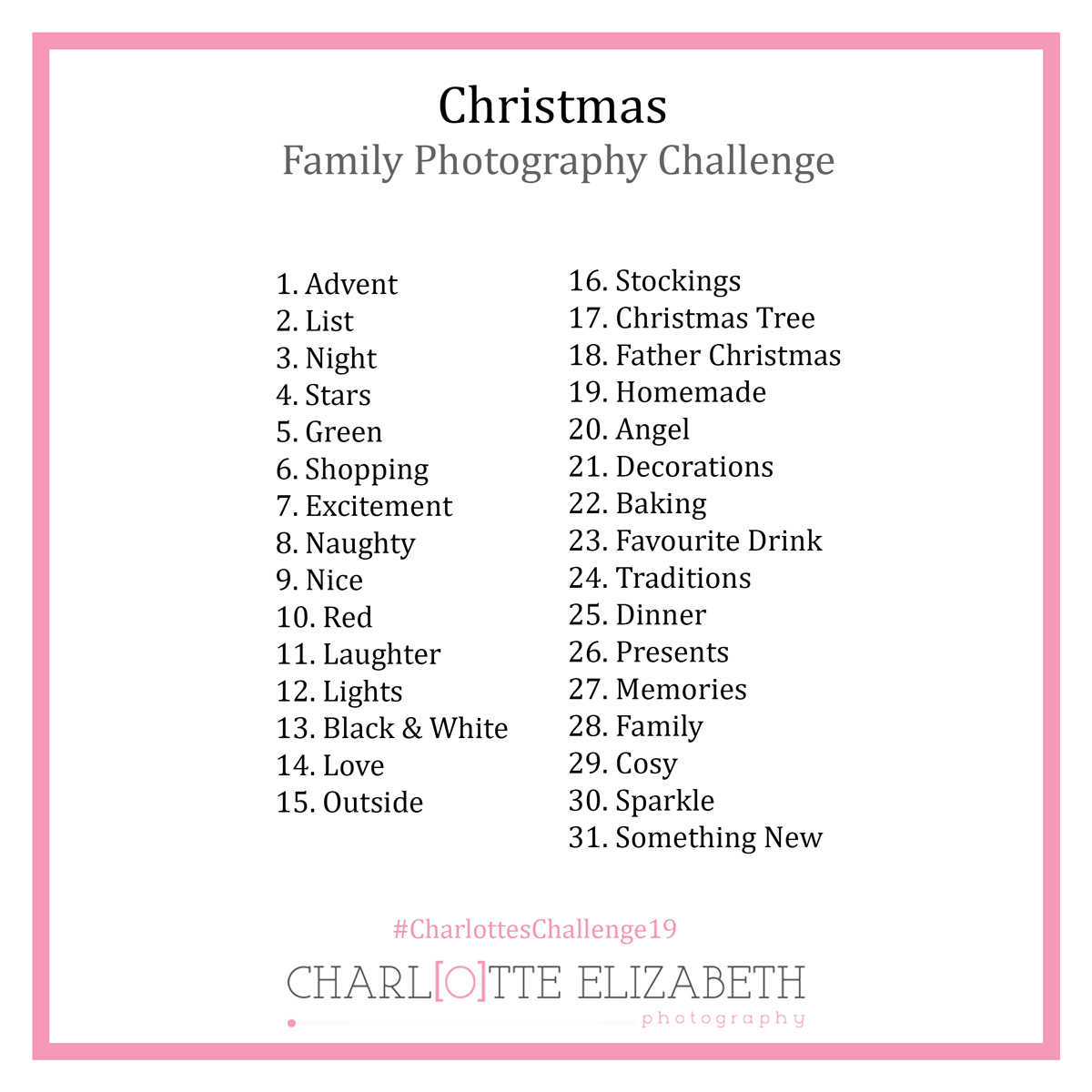 Christmas Photography Challenge