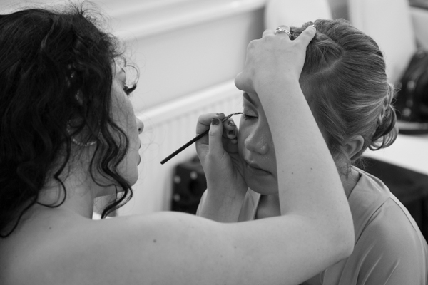 Hair and Makeup at Bagden Hall Hotel Wedding