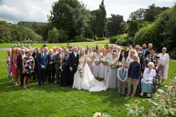 Group image at Bagden Hall hotel Wedding