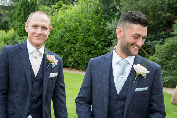 Guests laughing at Bagden Hall hotel Wedding