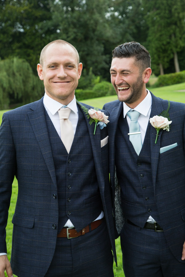 Groom and Best Man at Bagden Hall hotel Wedding