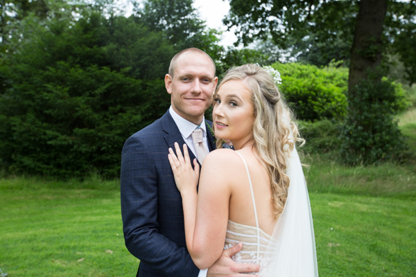 Bride and Groom portraits at Bagden Hall hotel Wedding