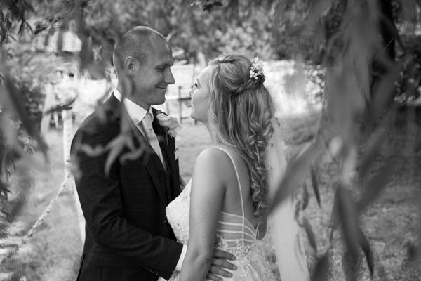 Bride and Groom portraits at Bagden Hall hotel Wedding