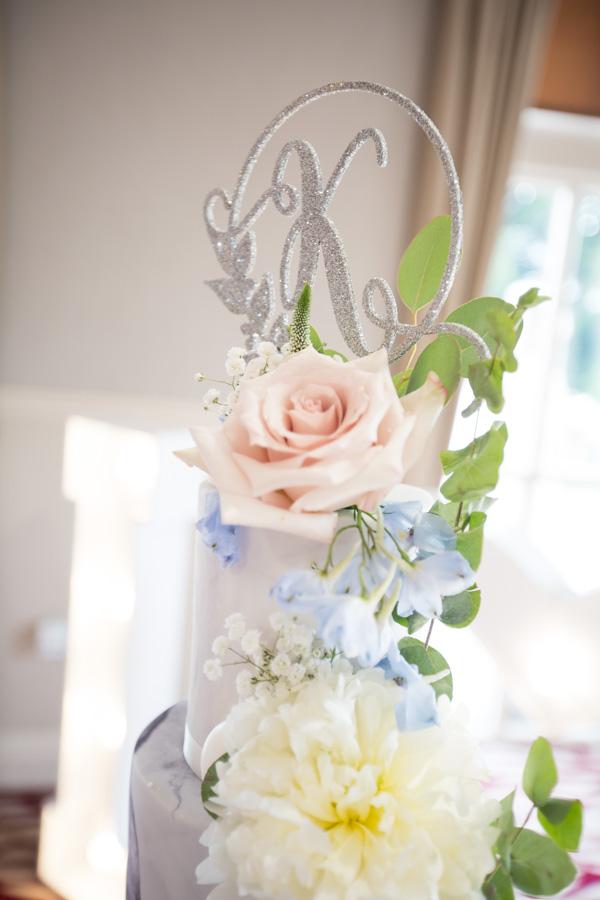 Wedding cake topper at Bagden Hall Hotel Wedding