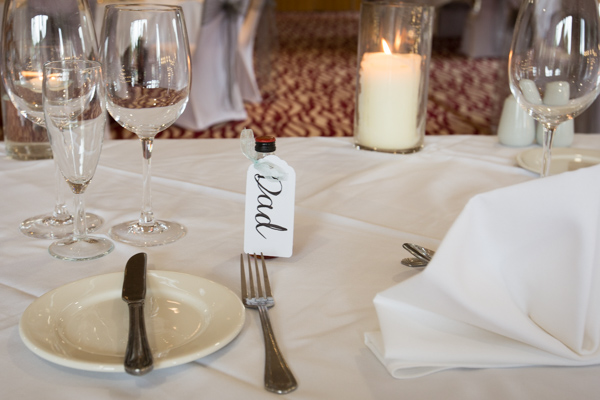 Wedding favours at Bagden Hall Hotel Wedding