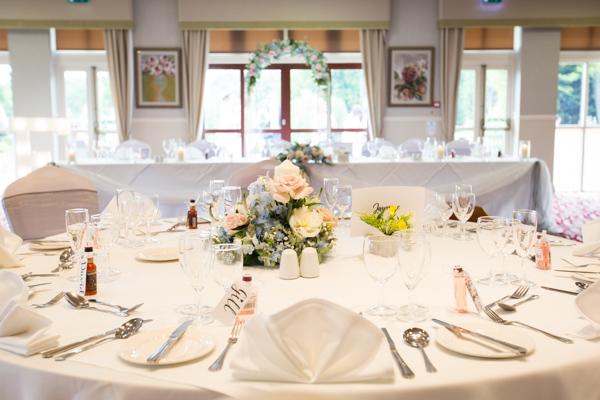 Wedding table at Bagden Hall Hotel Wedding
