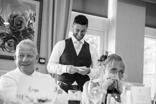 Speeches at Bagden Hall Hotel Wedding