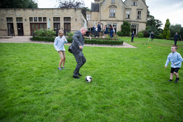 Games on the lawn at Bagden Hall Hotel Wedding