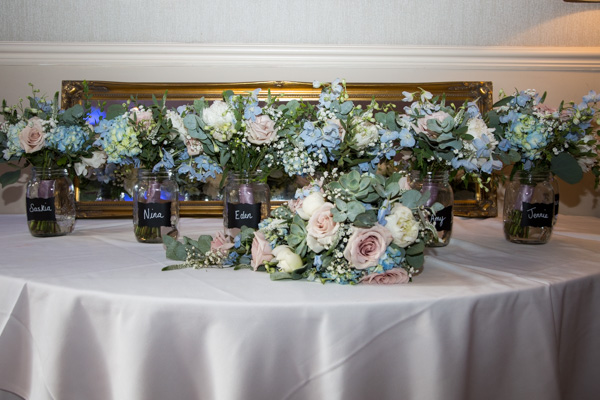 Wedding flowers at Bagden Hall Hotel Wedding