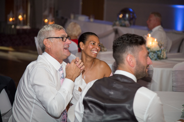 Wedding guests at Bagden Hall Hotel Wedding