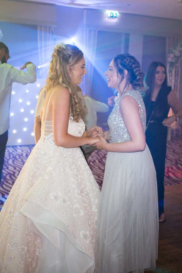Guests Dancing at Bagden Hall Hotel Wedding