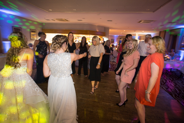 Guests Dancing at Bagden Hall Hotel Wedding
