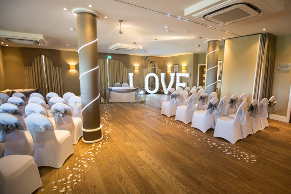 315 Bar and Restaurant Huddersfield set up for a wedding