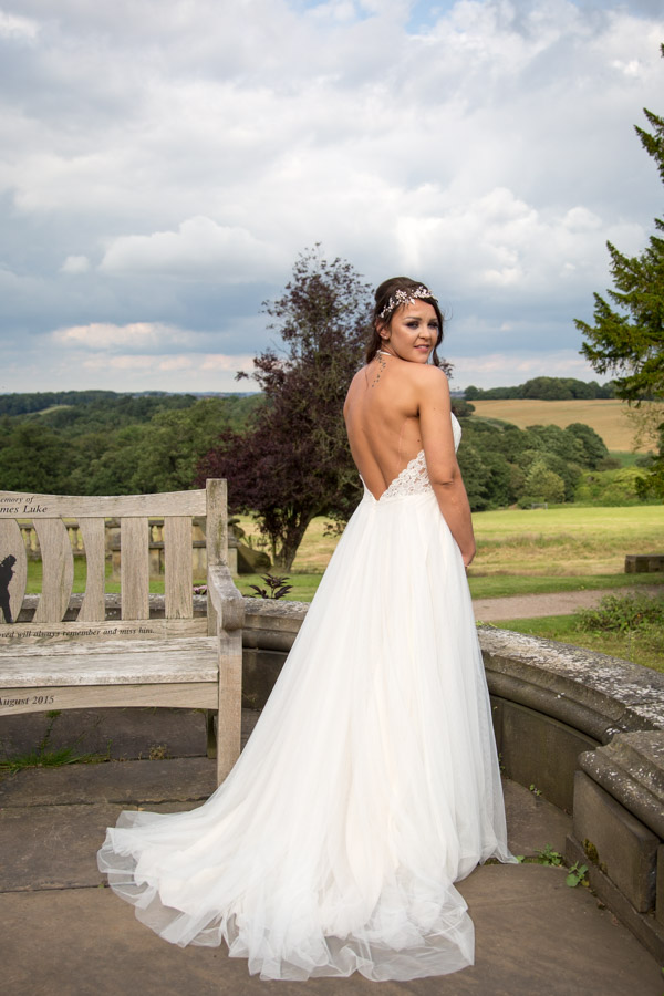 THe bride at Wortley Hall Wedding