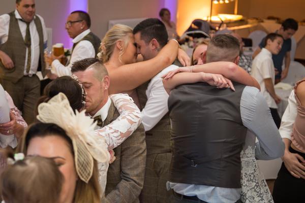 Guests dancing at Wortley Hall Wedding