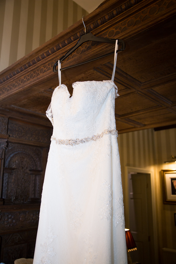 wedding dress details at Whitley Hall Hotel Wedding