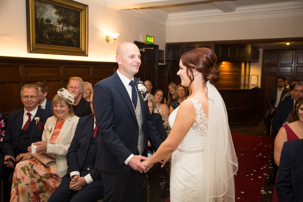 The wedding ceremony at Whitley Hall Hotel Wedding