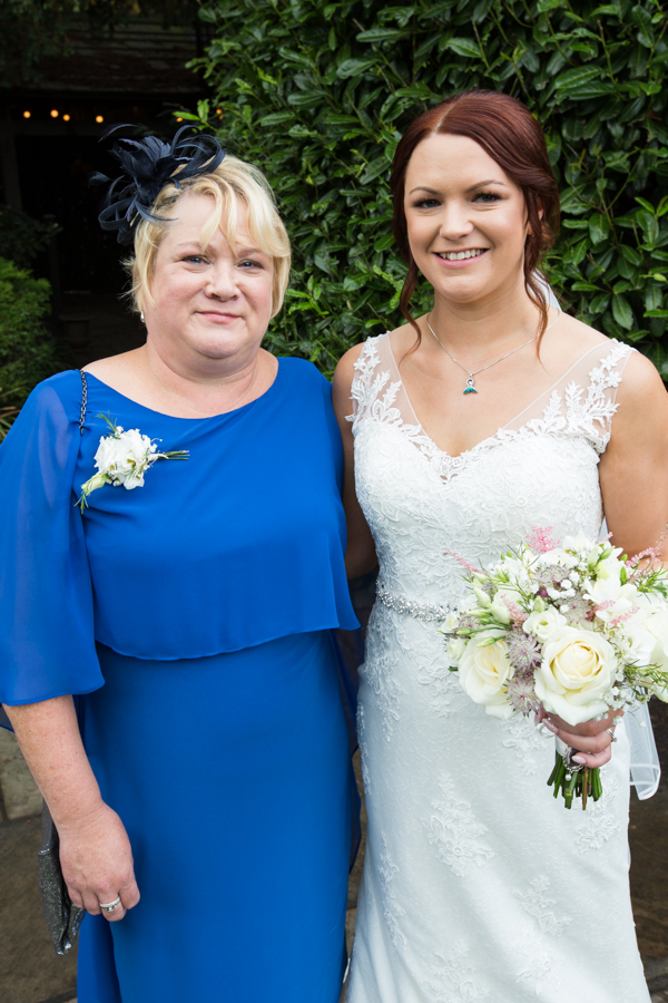 Mother of the bride with the bride at Whitley Hall Wedding Sheffield