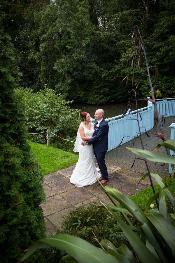 Bride and groom portraits at Whitley Hall wedding