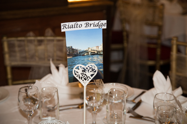 Table names at Whitely Hall Hotel Wedding