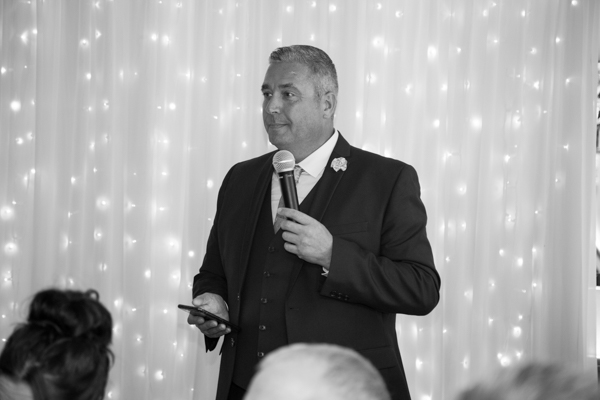 The speeches at Whitley Hall Wedding