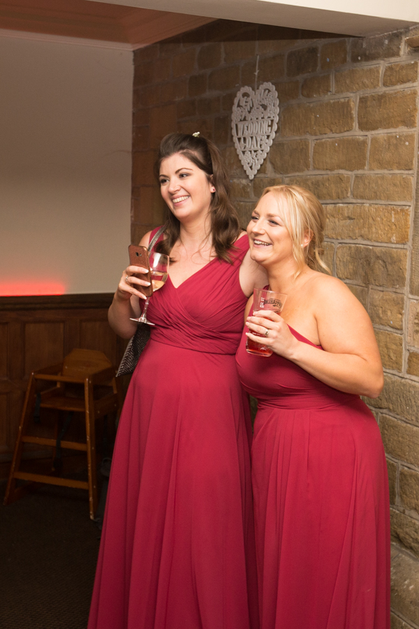 Bridesmaids watching the first dance at Whitley Hall Wedding