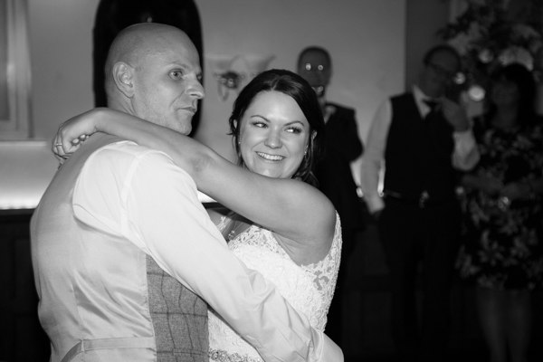 The first dance at Whitley Hall Wedding