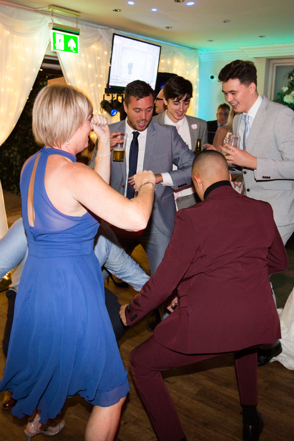 Guests on the dance floor at Whitley Hall Wedding