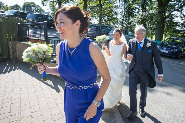 THe bride arriving to the ceremony 315 Wedding Huddersfield
