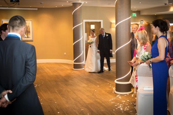 THe briade walking down the aisle 315 Wedding Huddersfield