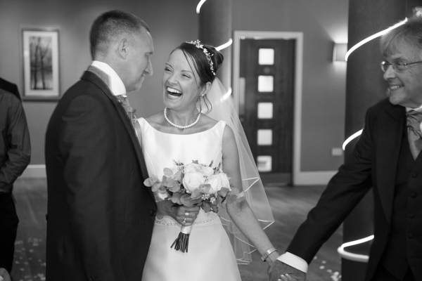 Bride laughing with the groom 315 Wedding Huddersfield